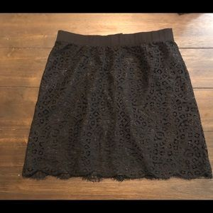 Joe Fresh Black Lace Skirt